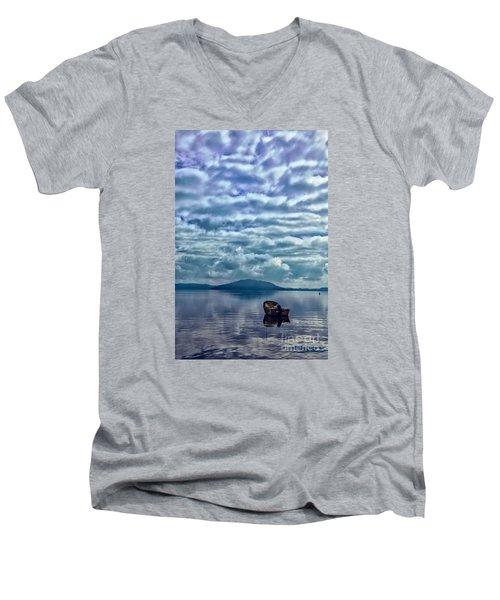 Lake Of Beauty Men's V-Neck T-Shirt by Rick Bragan