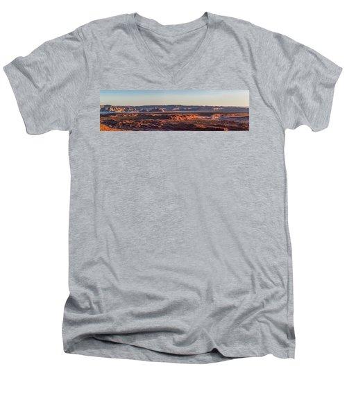 Lake Powell Sunrise Panorma Men's V-Neck T-Shirt