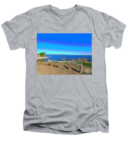 Lake Pueblo Painted Men's V-Neck T-Shirt