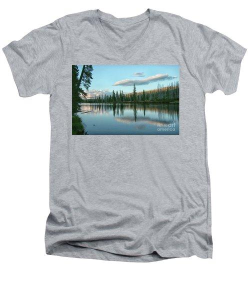 Lake Reflections Men's V-Neck T-Shirt by Myrna Bradshaw