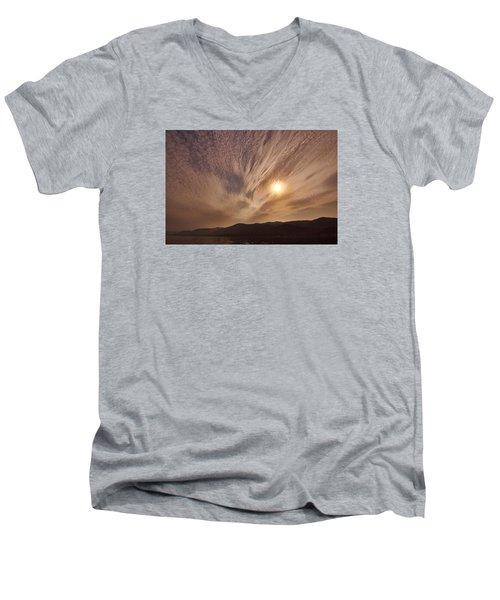 Lake Roosevelt Washington Men's V-Neck T-Shirt by Loni Collins