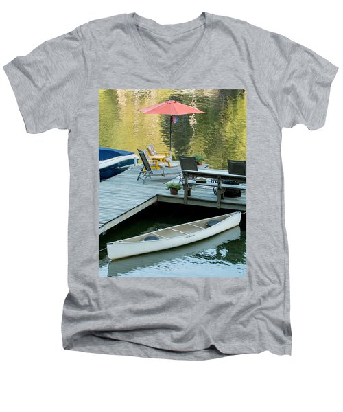 Lake-side Dock Men's V-Neck T-Shirt