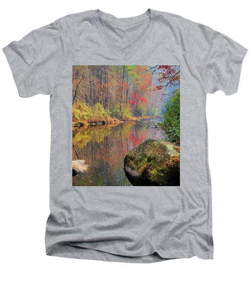 Chattooga Paradise Men's V-Neck T-Shirt by Steven Richardson