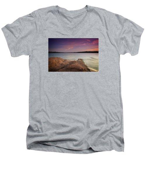 Lake Sunset II Men's V-Neck T-Shirt