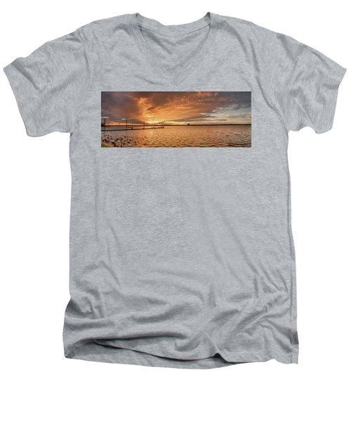 Lake Sunset Men's V-Neck T-Shirt