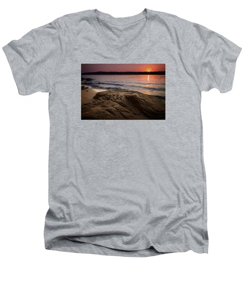 Lake Sunset Vi Men's V-Neck T-Shirt