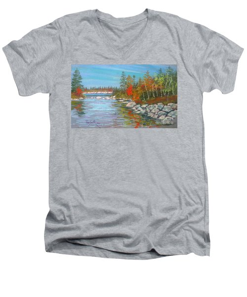 Lake Susie  Men's V-Neck T-Shirt