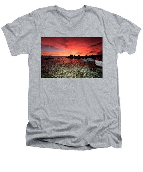 Lake Tahoe Liquid Dreams Men's V-Neck T-Shirt