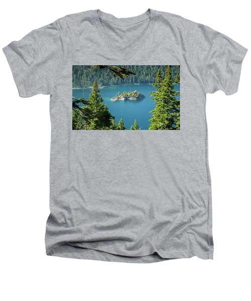Men's V-Neck T-Shirt featuring the photograph Lake Tahoe by RC Pics