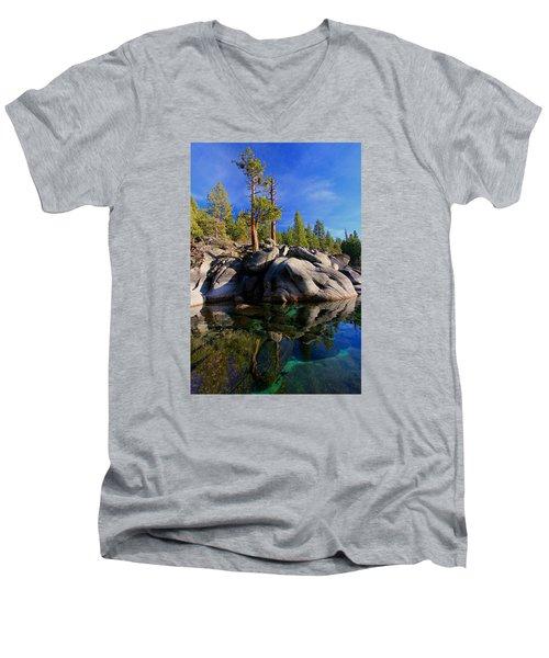 Lake Tahoe Rocks Men's V-Neck T-Shirt