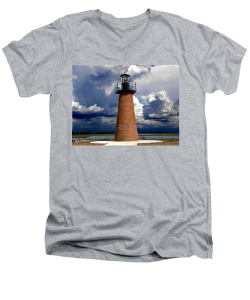 Lake Toho Lighthouse 002  Men's V-Neck T-Shirt