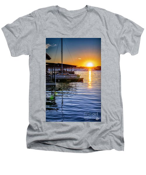 Men's V-Neck T-Shirt featuring the photograph Lake Travis by Walt Foegelle