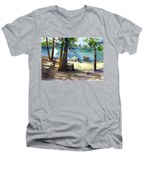Lake Valley Bear Men's V-Neck T-Shirt
