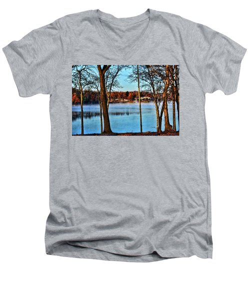 Lake Vapors Men's V-Neck T-Shirt by Rick Friedle