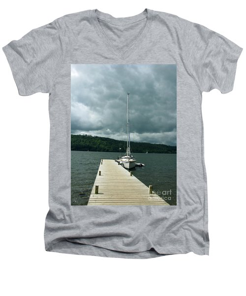 Lake Windermere Men's V-Neck T-Shirt by Mini Arora