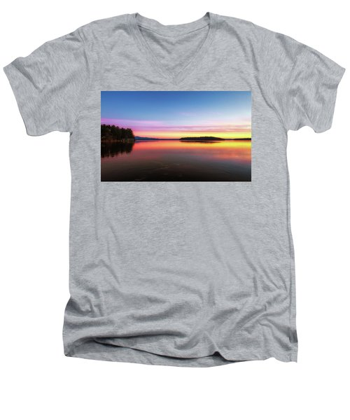 Lake Winnipesaukee Reflections Men's V-Neck T-Shirt