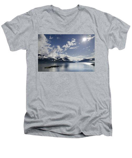 Lake With Islands Men's V-Neck T-Shirt
