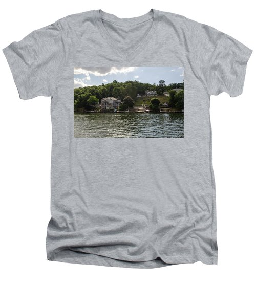 Lakeside Living Hopatcong Men's V-Neck T-Shirt