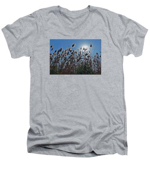 Lakeside Plants Men's V-Neck T-Shirt by Mikki Cucuzzo