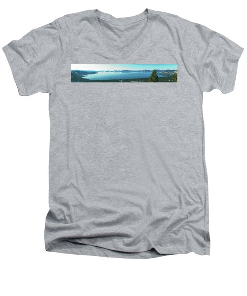 Laketahoe Panorama Men's V-Neck T-Shirt