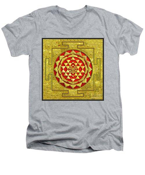 Lakshmi Kubera Yantra Men's V-Neck T-Shirt by Ragunath Venkatraman