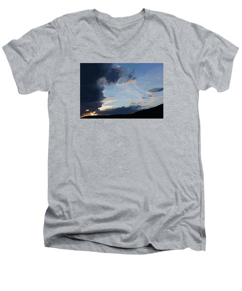 Lamar Sunset Men's V-Neck T-Shirt