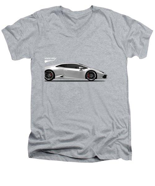 Lamborghini Huracan Men's V-Neck T-Shirt by Mark Rogan