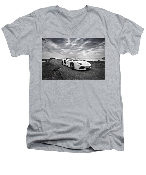 Lamborgini Aventador Men's V-Neck T-Shirt