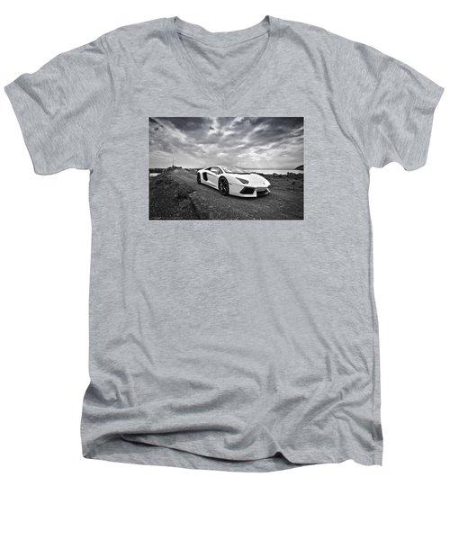 Lamborgini Aventador Men's V-Neck T-Shirt