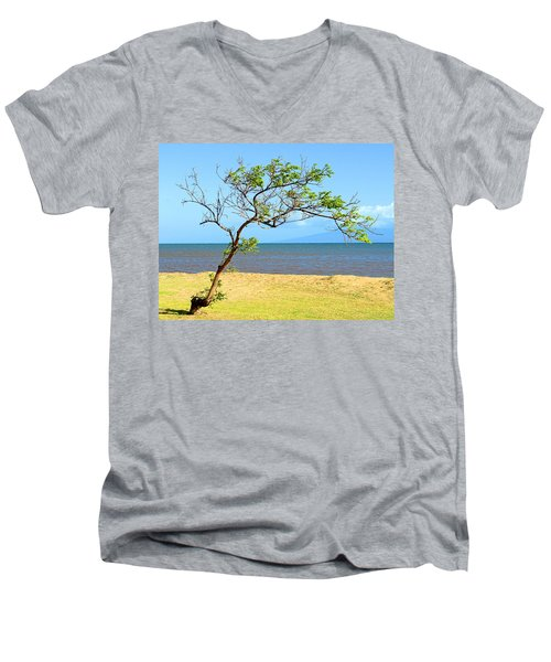 Lanai Leaning Men's V-Neck T-Shirt