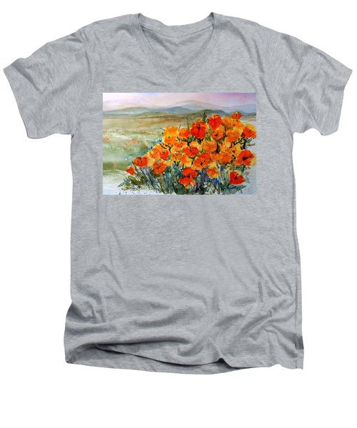 Lancaster Poppy Fields Men's V-Neck T-Shirt