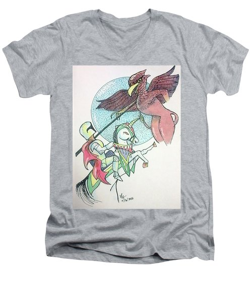 Lancelot And Griffin  Men's V-Neck T-Shirt