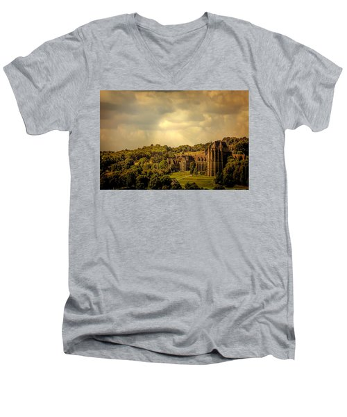 Men's V-Neck T-Shirt featuring the photograph Lancing College by Chris Lord