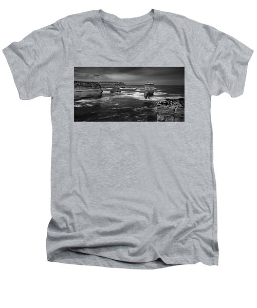 Land And Sea Men's V-Neck T-Shirt by Mark Lucey