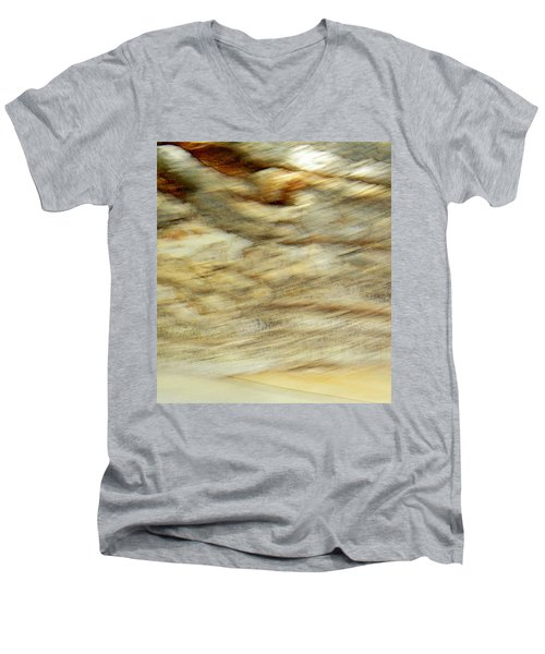 Men's V-Neck T-Shirt featuring the photograph Land And Sky by Lenore Senior