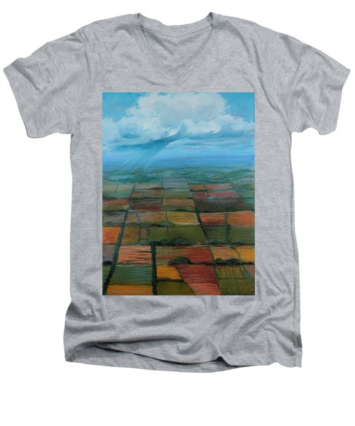 Land Art Men's V-Neck T-Shirt
