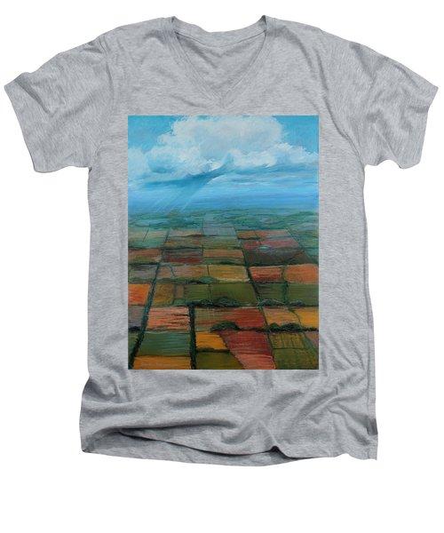 Land Art Men's V-Neck T-Shirt