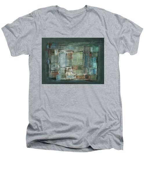 Texture Men's V-Neck T-Shirt by Behzad Sohrabi