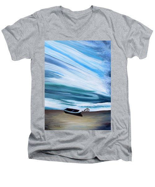 Land Meets Sky Men's V-Neck T-Shirt by Marilyn  McNish