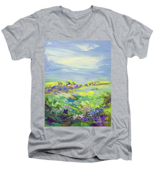 Land Of Milk And Honey Men's V-Neck T-Shirt by Tatiana Iliina