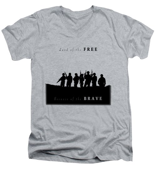 Land Of The Free Graphic Men's V-Neck T-Shirt