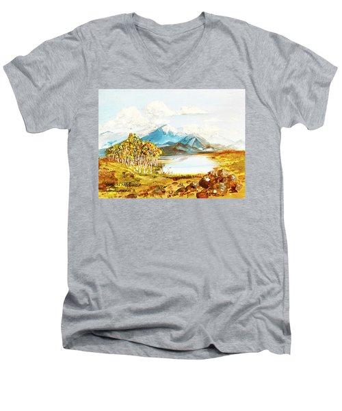 Land Scape No.-3 Men's V-Neck T-Shirt