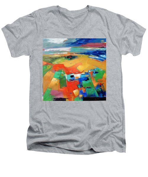 Landforms, Suggestion Of A Memory Men's V-Neck T-Shirt by Gary Coleman