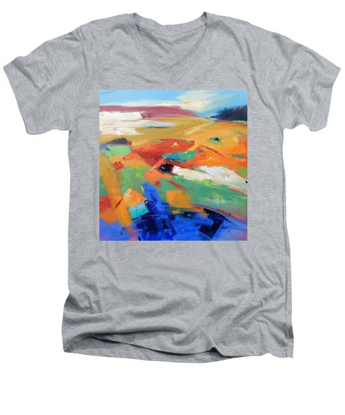 Landforms, Suggestion Of Place Men's V-Neck T-Shirt