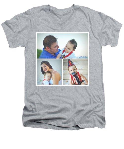 Landon Collage  Men's V-Neck T-Shirt