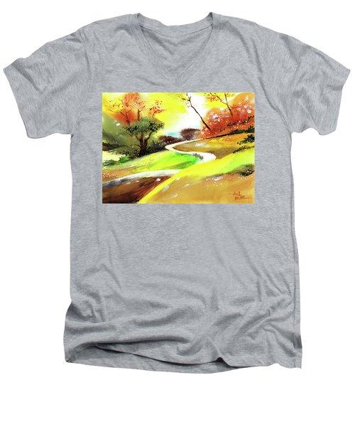 Landscape 6 Men's V-Neck T-Shirt