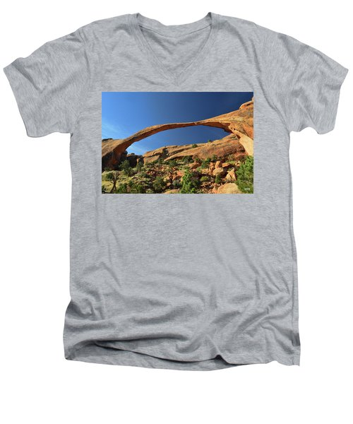 Landscape Arch Men's V-Neck T-Shirt