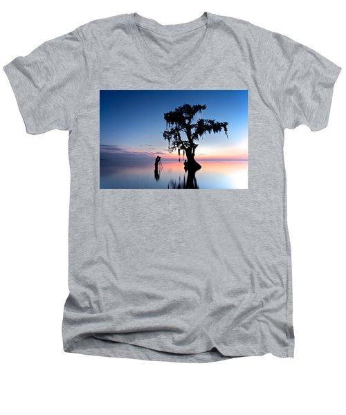 Men's V-Neck T-Shirt featuring the photograph Landscape Backstage by Evgeny Vasenev