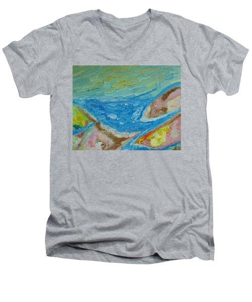 Landscape. Fantasy 12. Top View. Men's V-Neck T-Shirt