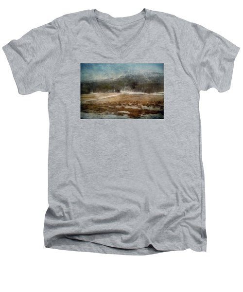 Landscape From Norway Men's V-Neck T-Shirt by Vittorio Chiampan